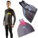 חבילת צלילה חופשית Freediver Monofin Basic